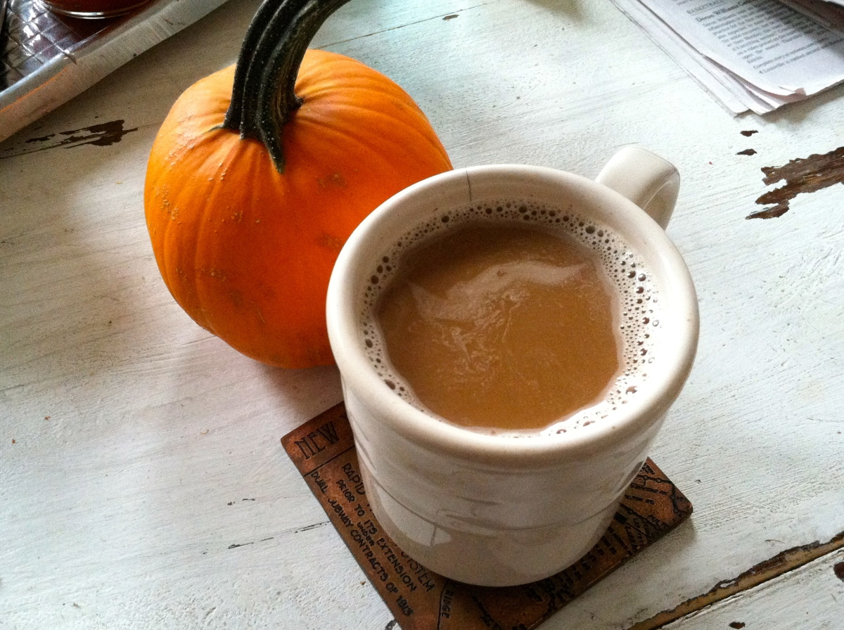 Homemade Pumpkin Spice Lattes