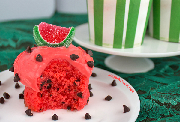 The Kissters Watermelon Cupcakes