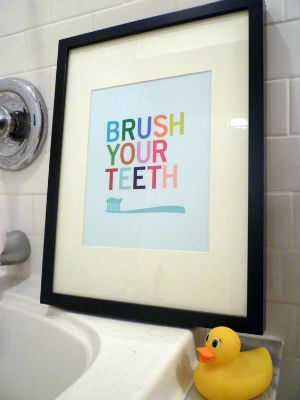 bathroom-art-bellybabies-brush-teeth