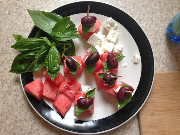 watermelon feta kabob