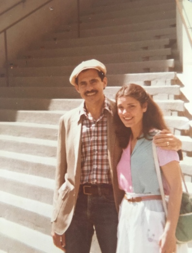 David and Rhoda in front of their San Fran apartment
